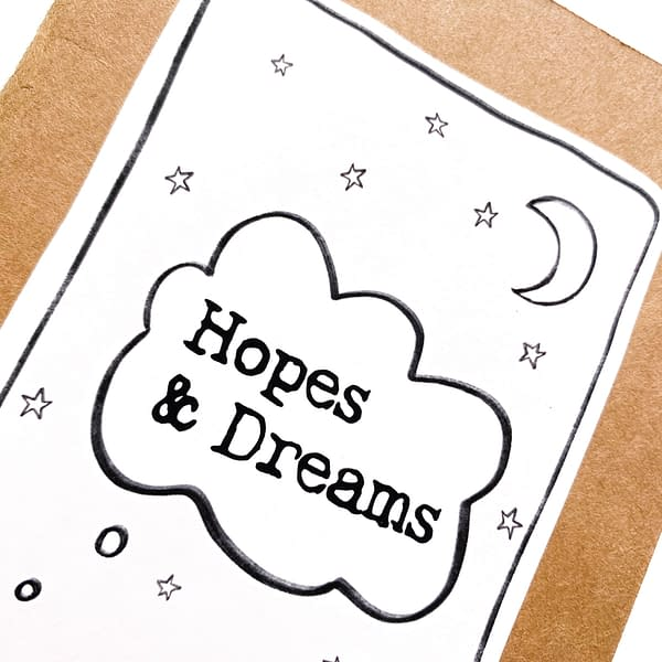 Hope and Dreams A6 notebook, pink notebook