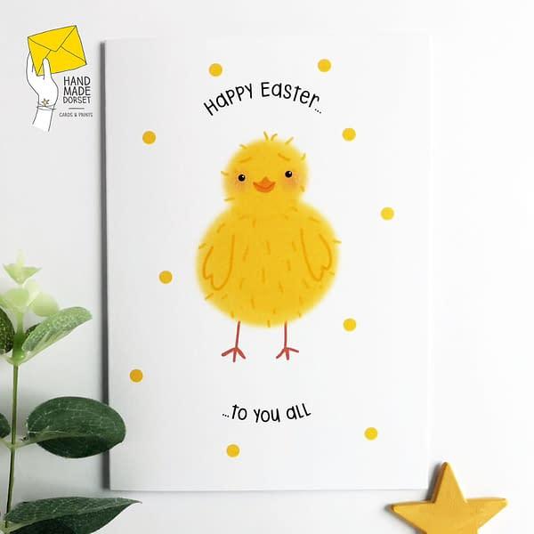 Easter card, easter card for family