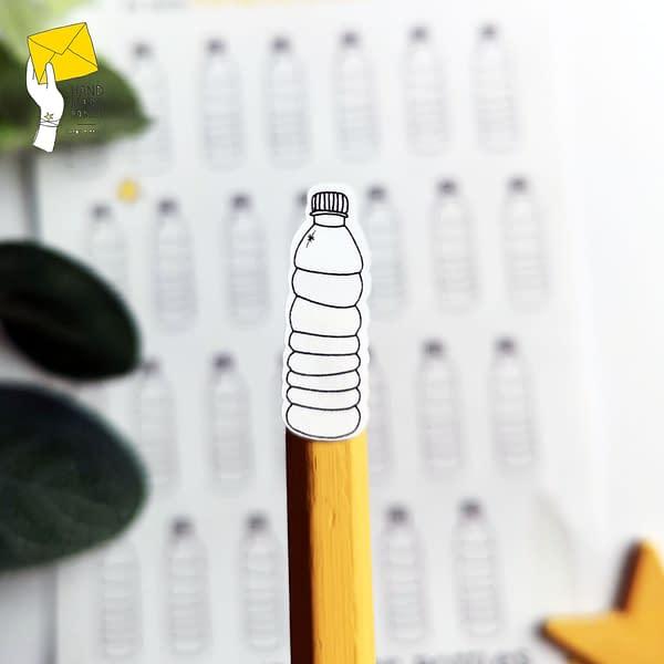 Water bottle stickers, drinking reminder stickers