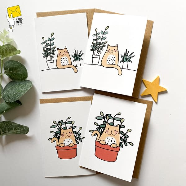 Pack of cat cards, cute cat cards