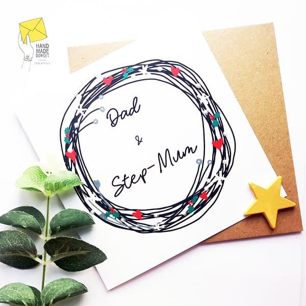 Dad & step-mum card, step-mum Christmas card