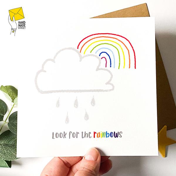 Look for the rainbows, rainbow card