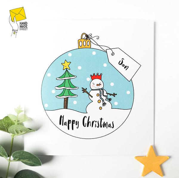 Son Christmas card, christmas card for Son
