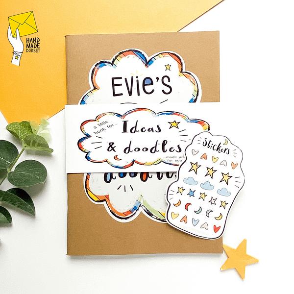 Personalised children's book, custom childrens note book
