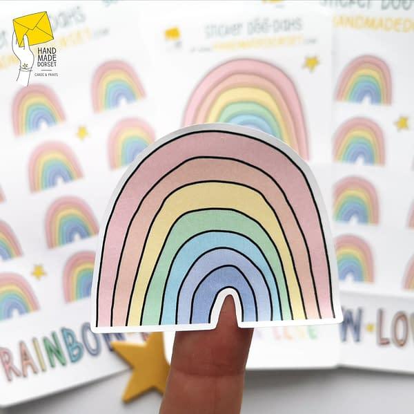 Rainbow stickers, stickers of rainbows