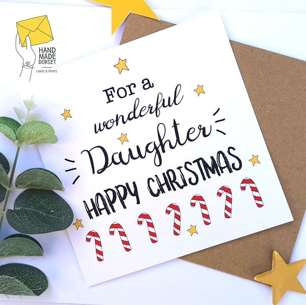 Daughter Christmas card, card for daughter