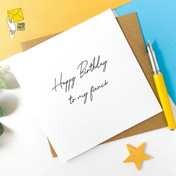 Happy Birthday to my Fiancé, Birthday card for fiancée