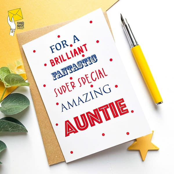 Auntie birthday card, birthday card for Auntie