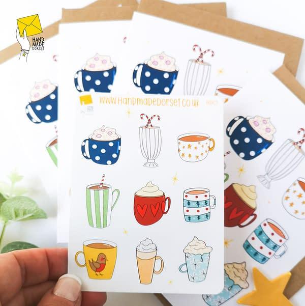 Winter themed washi tape, cups washi tape