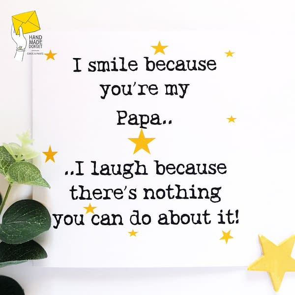 Funny Dad birthday card, card for Papa, fathers day