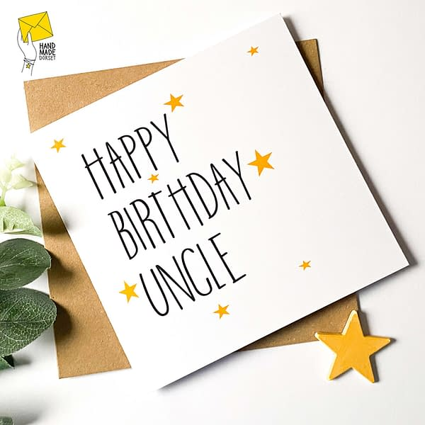 Card for uncle, uncle card