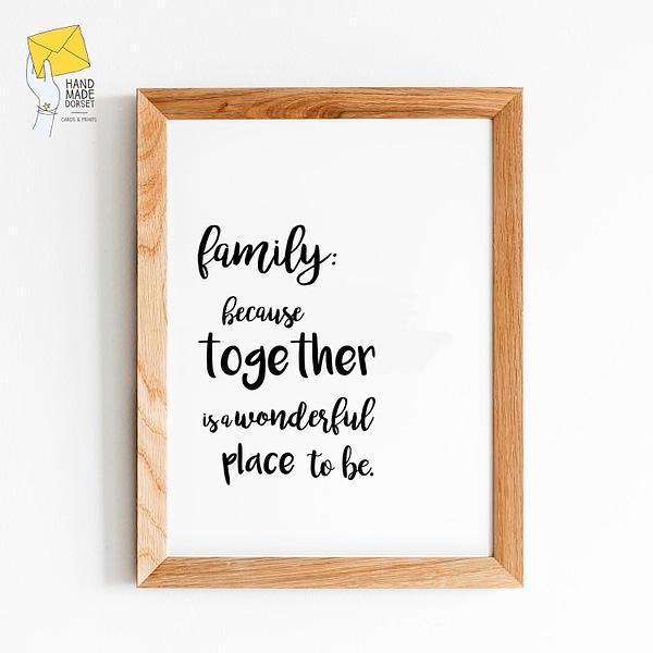Family print, living room print