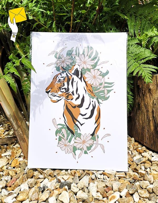 Tiger print, tropical tiger print