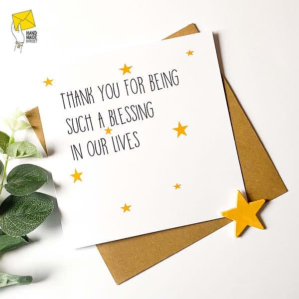 Thank you card, spiritual card