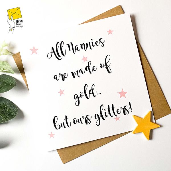 Nanny card, card for Nanny
