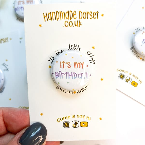 Birthday badge, small birthday badge