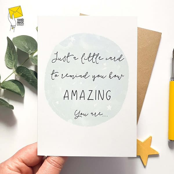 You're amazing card, inspirational card