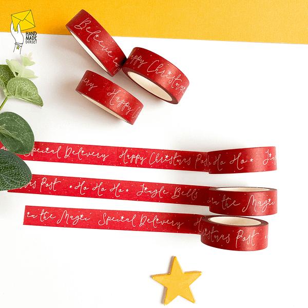 Christmas washi tape, red washi tape