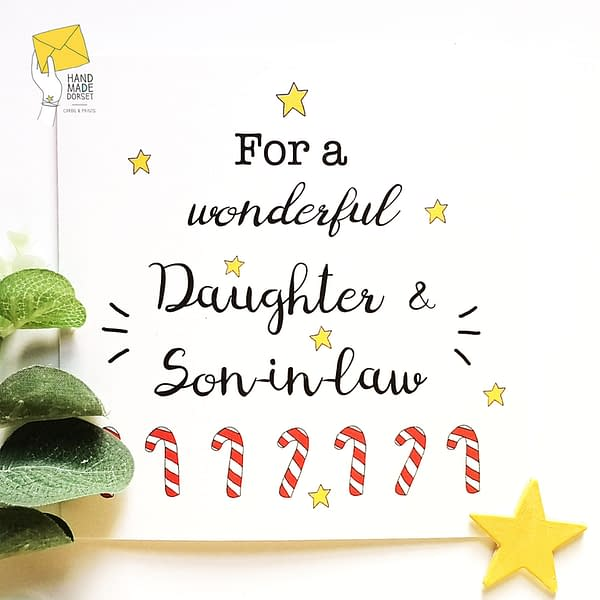 Daughter and Son-in-law christmas card, card for daughter and her husband