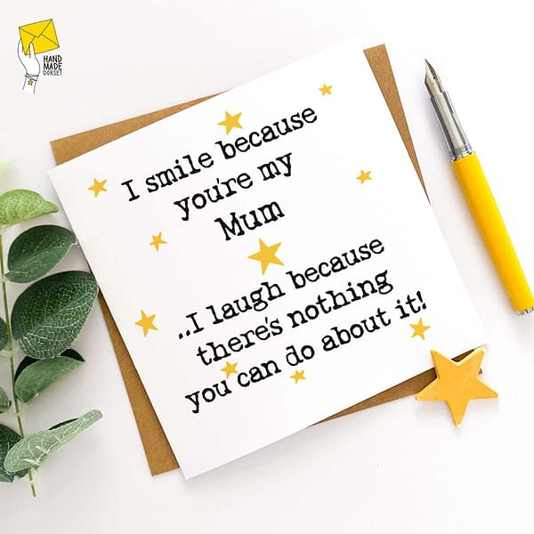 Funny mothers day card, Mum's Birthday card