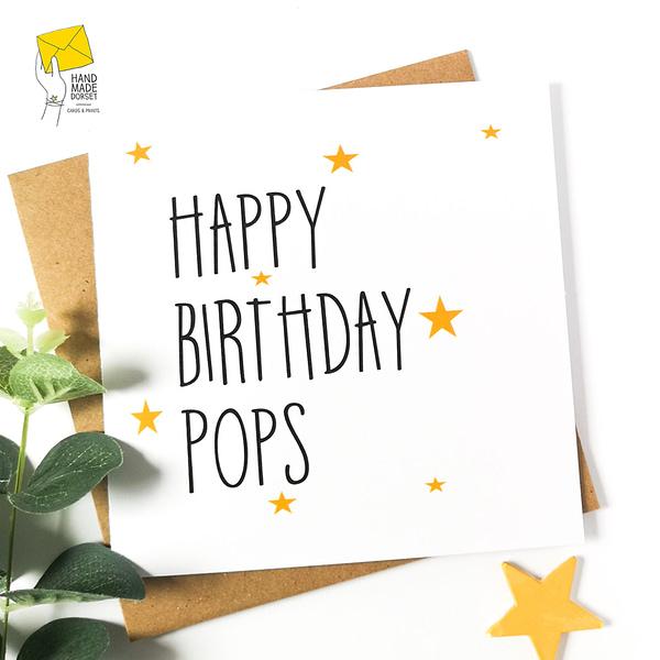 Card for Pops, Pops card