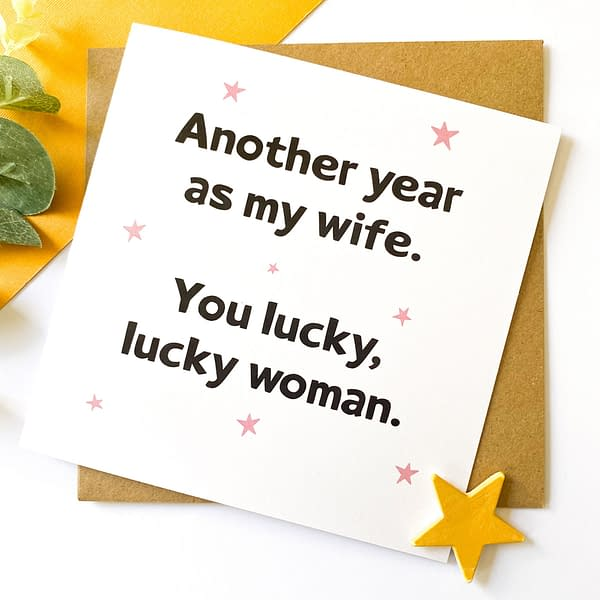 Anniversary card for my wife, wife anniversary card