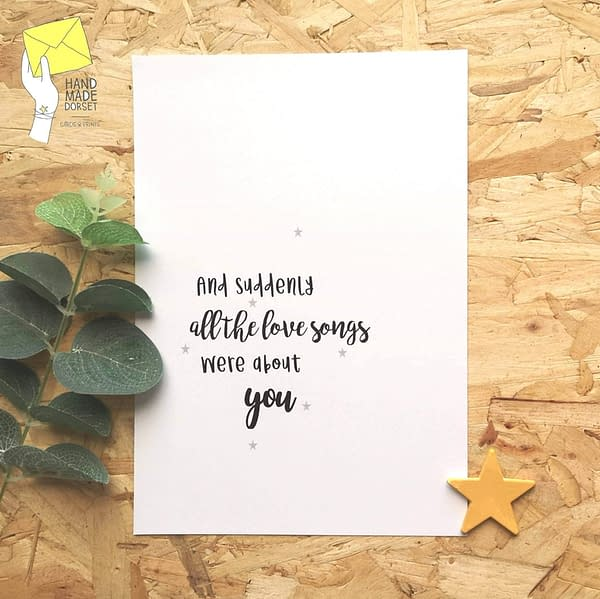 Love quote print, wedding gift print