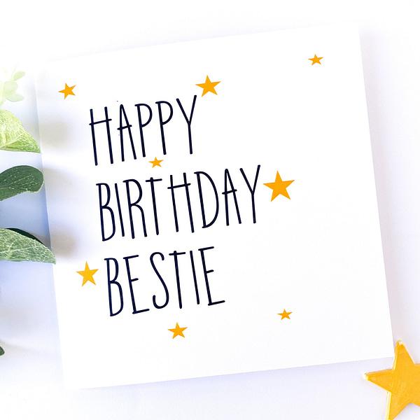 Bestie birthday card, birthday card for bestie