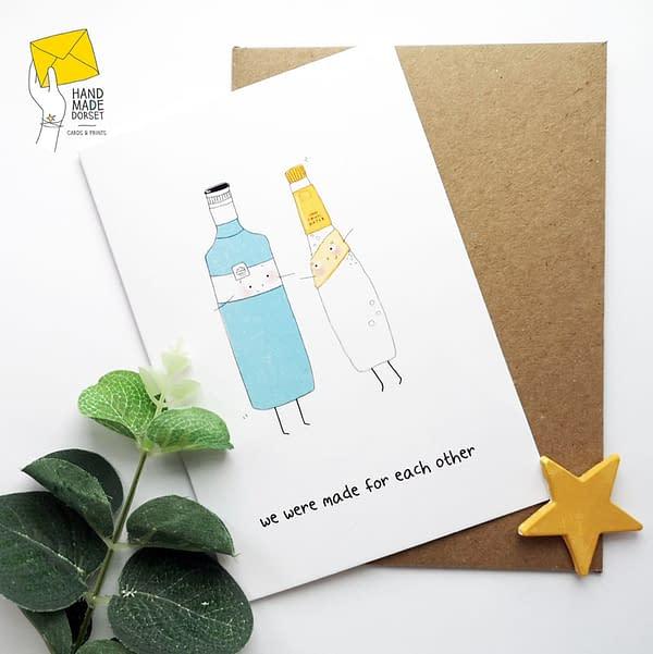 Gin love card, gin valentines card