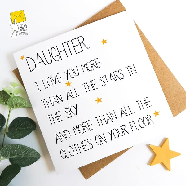 Card for Daughter, Funny card