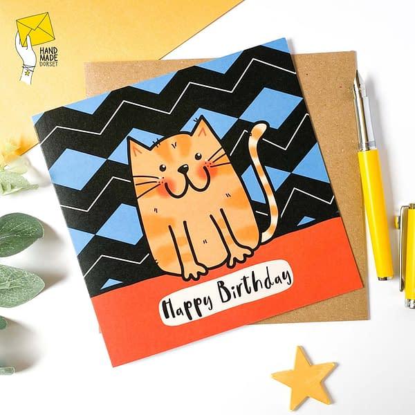 Ginger cat card, cute card card