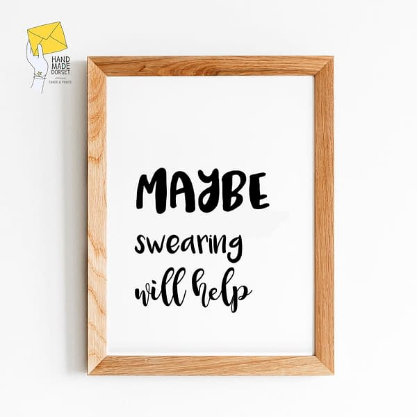 funny print, swearing gift