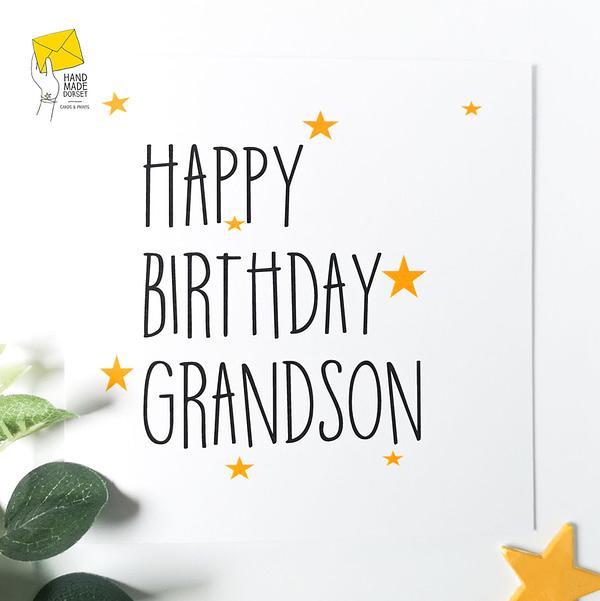 Card for Grandson, Grandson card