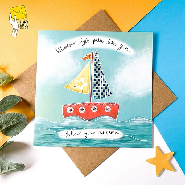 Follow your dreams card, Good luck card