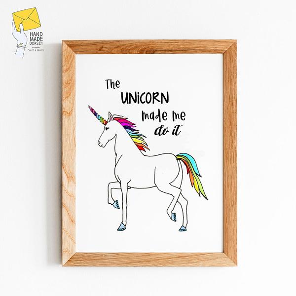 Unicorn print, funny unicorn print