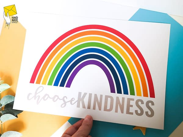 Kindness print, rainbow print