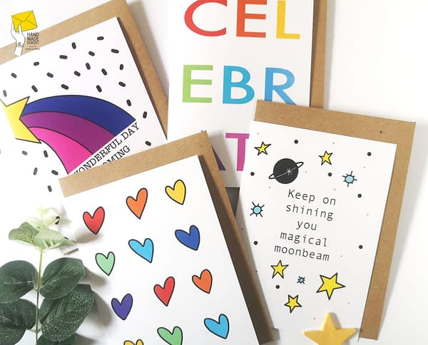 Keep on shining, motivational card