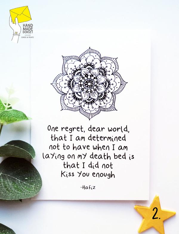Hafiz quote card, spiritual card