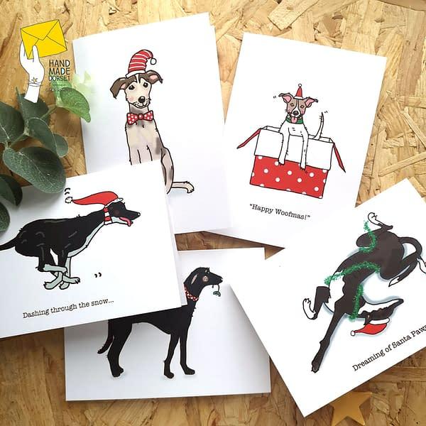 Cute dog stickers, lurcher stickers