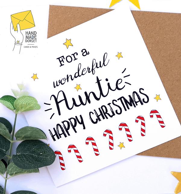 Auntie Chrismas card, Aunt Christmas card