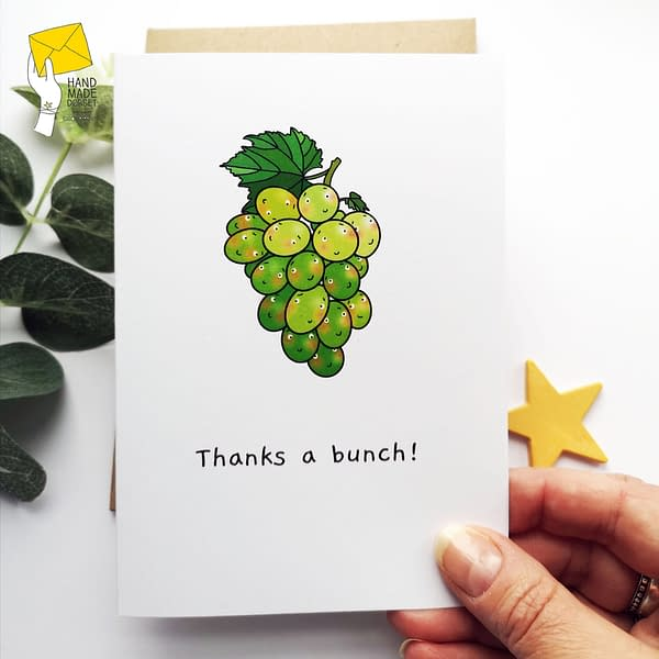 Thank you card, cute thank you, pack of thank you cards