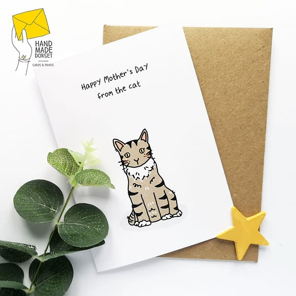 Happy Mother's Day from the cat, card from the cat