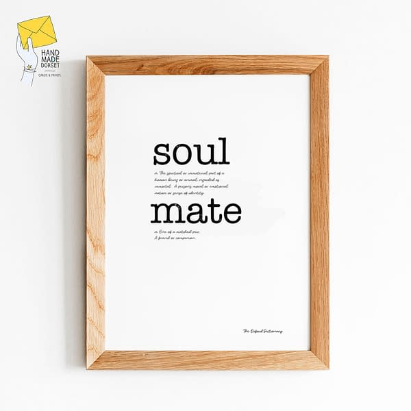 Valentines day print, soul mate
