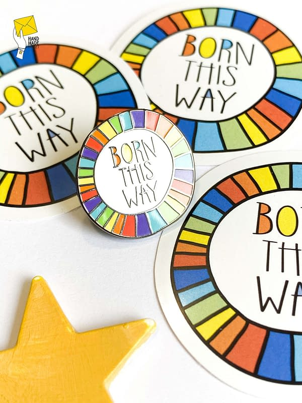 Born this way pin, lgbtqia+ badge