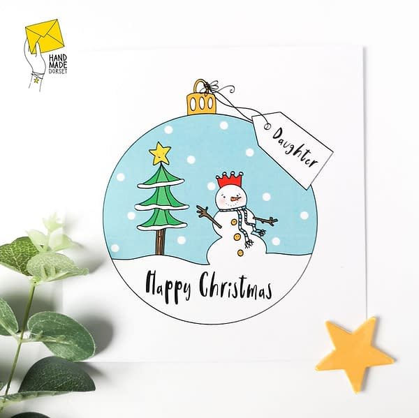 Daughter Christmas card, christmas card for daughter