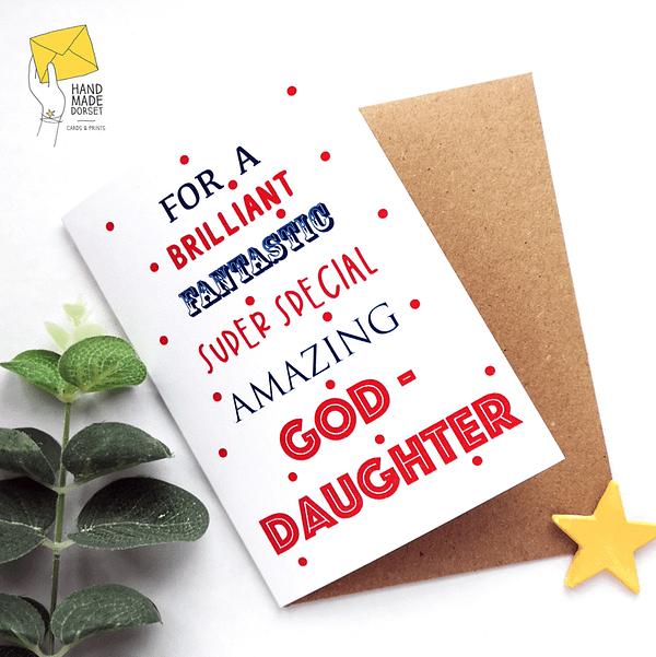God-daughter card, Birthday card for goddaughter
