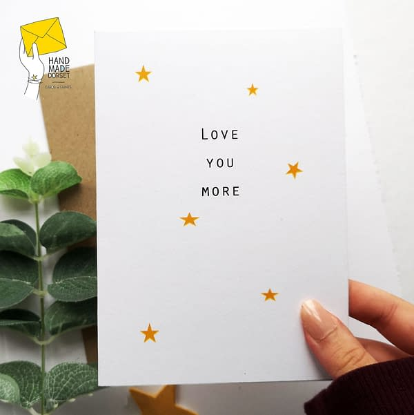 Love you more card, love you card