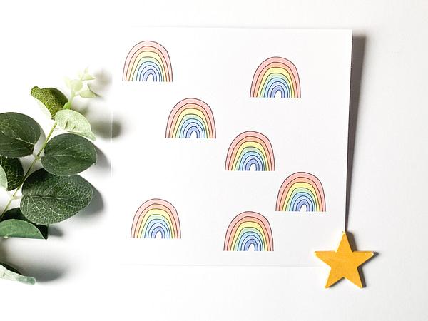 Cheer up card, rainbow card
