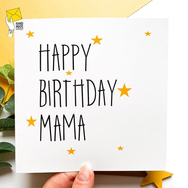 Mama birthday card, birthday card for mama, Mum card, Mam card