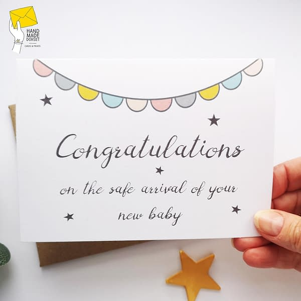Congratulations baby card, new baby card, gender neutral new baby